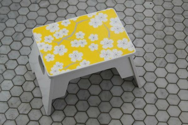Wanddeko selber machen bastelideen textur gelb