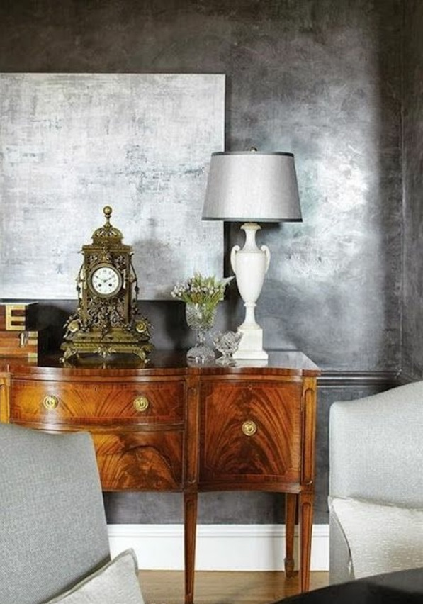wandfarbe mit metalleffekt. Black Bedroom Furniture Sets. Home Design Ideas