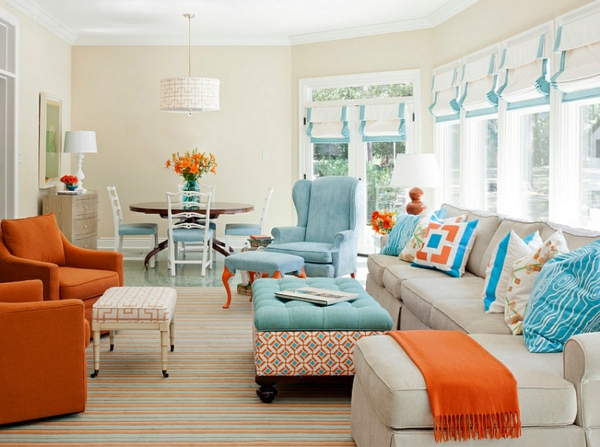 30 coole Wohnideen für Farbkombination - Heiße Trendfarben 2014