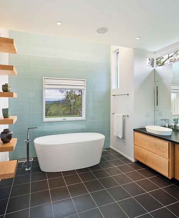 Wohnideen für Farbkombination wandfarbe wohnzimmer badewanne