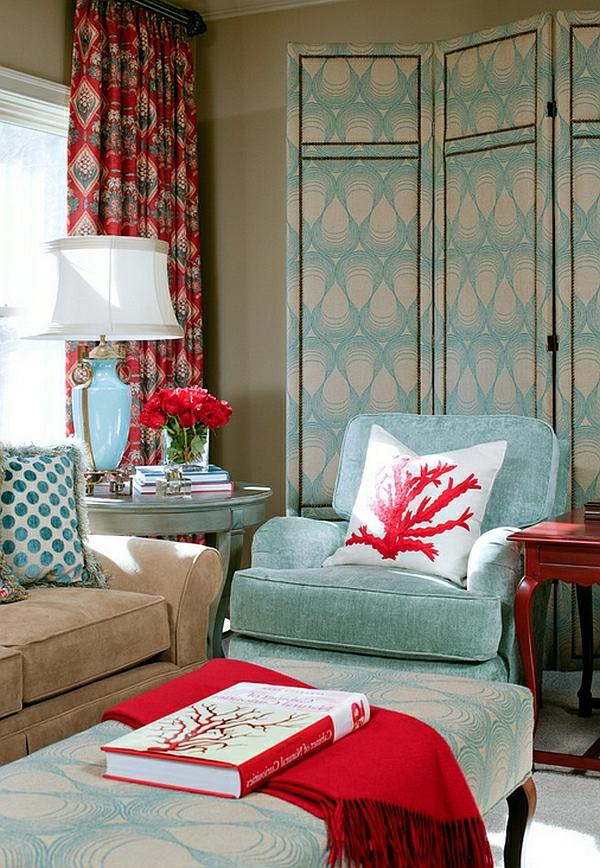 Wohnideen für Farbkombination wandfarbe wohnzimmer chavron