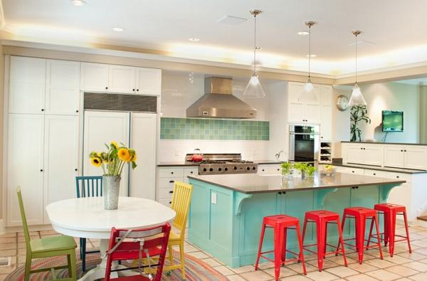 Wohnideen kombinationen wandfarbe wohnzimmer kücheninsel