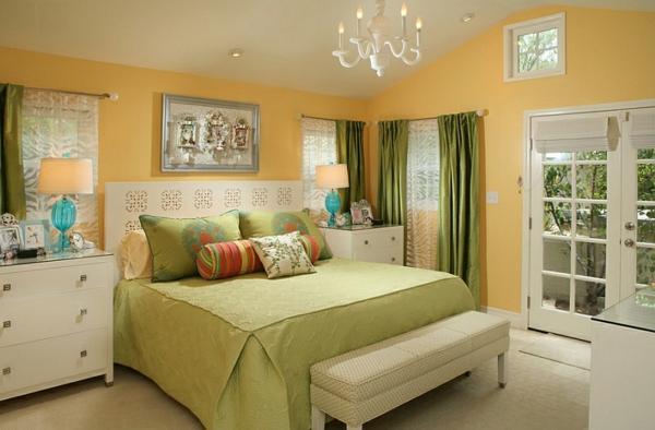 Wohnideen Farbkombination wandfarbe wohnzimmer orange