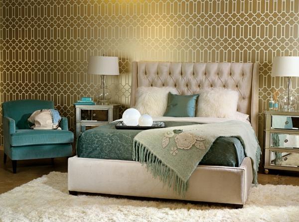 Wohnideen für Farbkombination wandfarbe wohnzimmer polster kopfteil