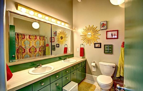 Wohnideen für Farbkombination wandfarbe wohnzimmer spiegel