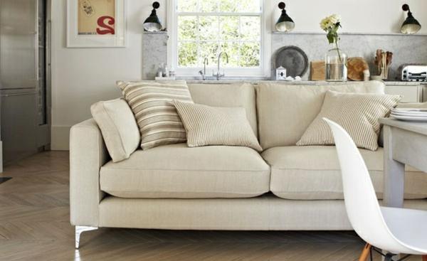 Wohnzimmer traditionell farbvorschläg bequem sofa