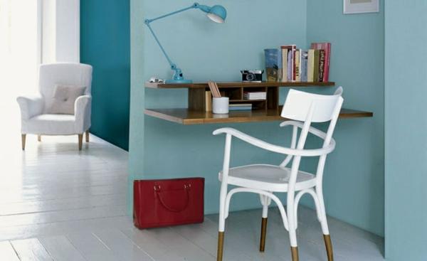 Wohnzimmer Farbvorschläge schreibtisch tischlampe