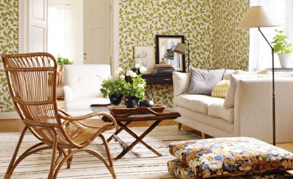Wohnzimmer Farbvorschläge Stühle Auflagen