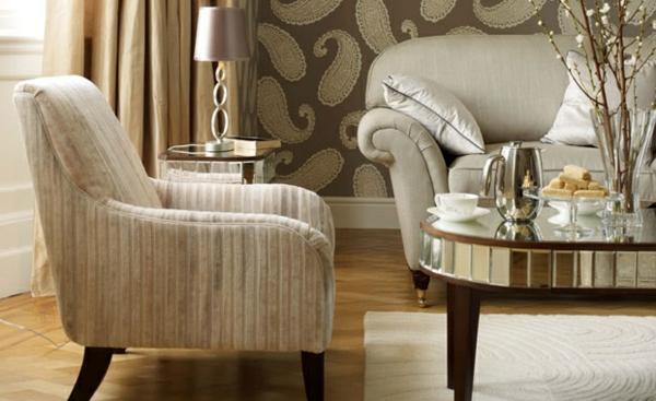 Wohnzimmer beige farbgestaltung Farbvorschläge traditionell
