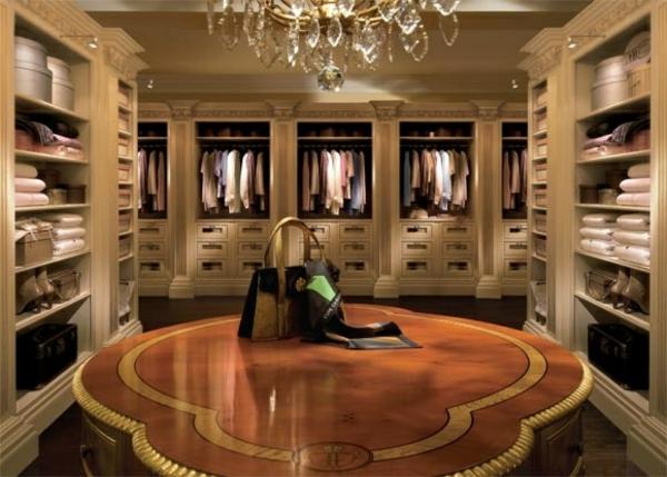 ankleidezimmer einrichtungsideen elegante möbel einbaugarderoben