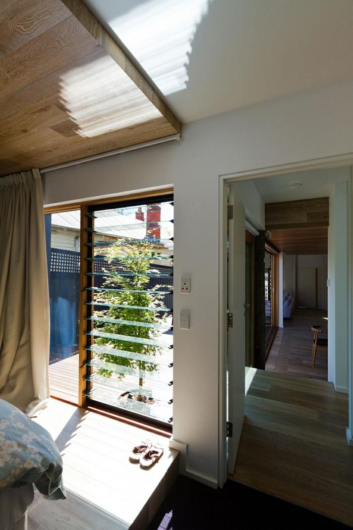 architektenhaus moderne holzinneneinrichtung holzboden holzdecke holzterrasse