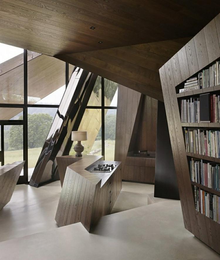 architektur und design Daniel Libeskind holzeinrichtung minimalistisch
