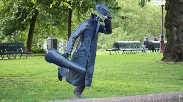 kunst skulpturen violin player holland