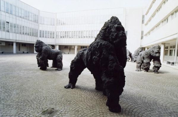 kunstwerke kunst skulpturen gorillas