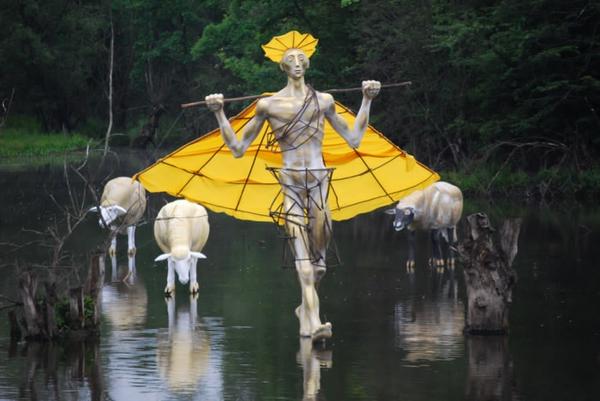 kunstwerke kunst skulpturen water pasture