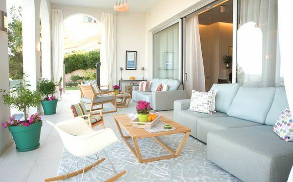 außenbereich einrichten terrassengestalten wohnbereich möbel