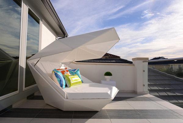 Außenmöbel Moderne Terrassengestaltung Designer Lounge Möbel Sonnenliege