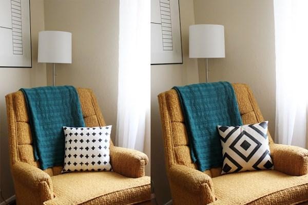 ausgefallene wohnaccessoires diy dekokissen mit coolen. Black Bedroom Furniture Sets. Home Design Ideas
