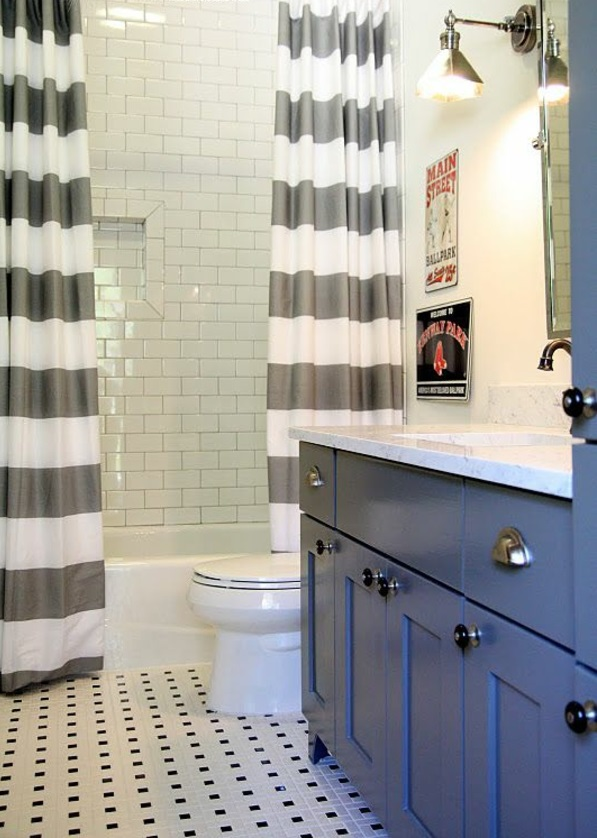badezimmer design badvorhänge duschvorhang  streifen