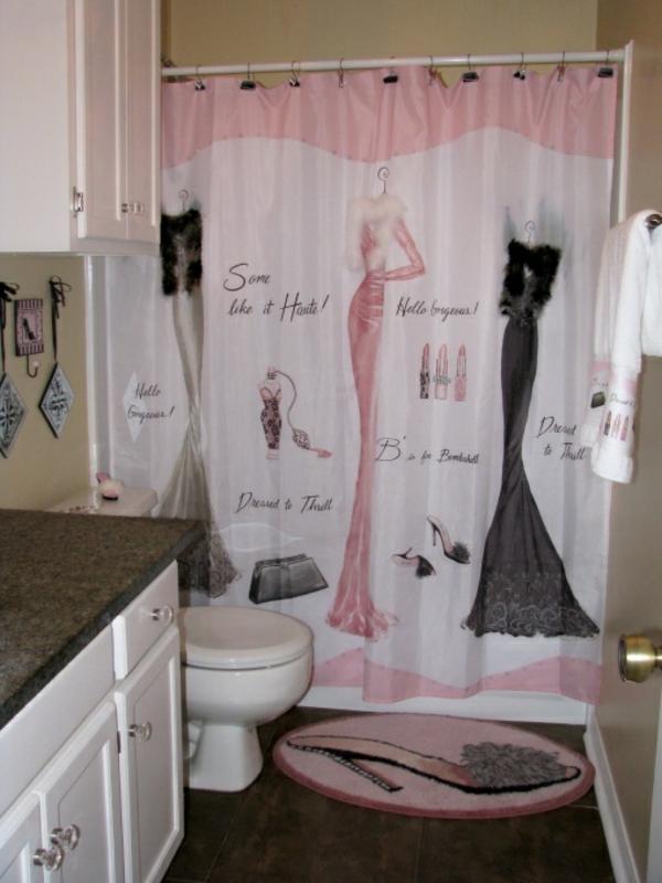 badezimmer design badvorhang duschvorhang lustig dekorative