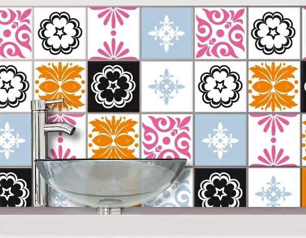 badezimmer fliesen überkleben bad erneuern muster aufkleben