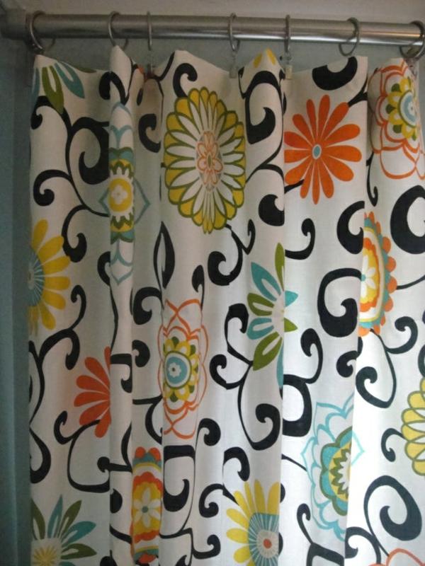 badezimmer badvorhänge duschvorhang blumenmuster