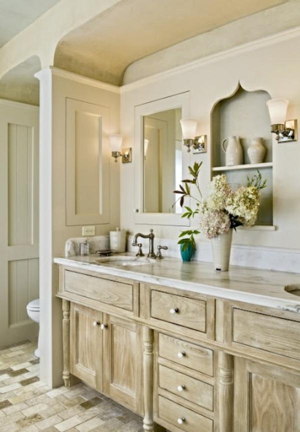 badezimmer gestaltung dekoration badmöbel einbauregale