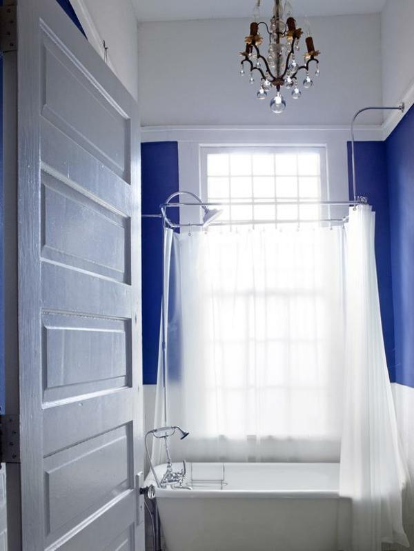 badezimmergestaltung ideen badewanne gardinen