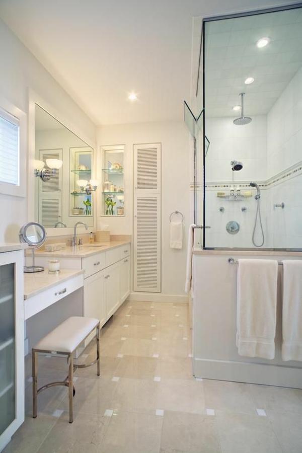 badezimmergestaltung ideen weißes badezimmer duschkabine