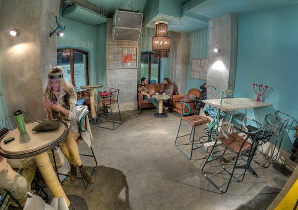restaurant design dekoideen Bicycle bar rumänien