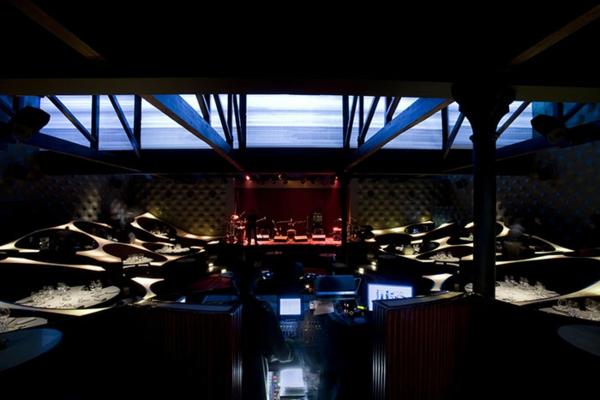 restaurant design ideen blue frog lounge indien