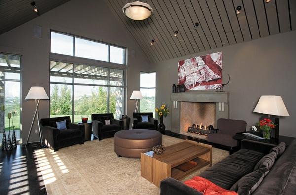 beleuchtungsideen led standleuchten stativleuchten modernes wohnen wohnzimmer