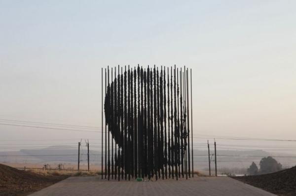 kunstwerke kunst nelson mandela statue südafrika