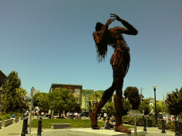 kunstwerke kunst skulpturen the lady of hayes valley