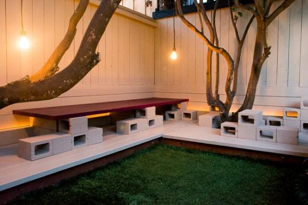 raum lounge garten beleuchtung rasenfläche