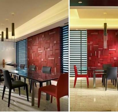 15 hinreißende Esszimmer in Rot, Weiß und Schwarz