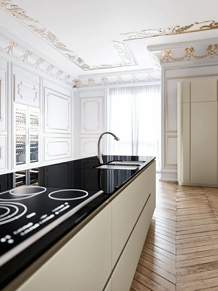 designerküchen kücheninsel kochfeld spüle minimalistisch flächenbündig eingebaut