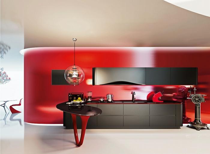 designerküchen moderne küchen italienisches design rot