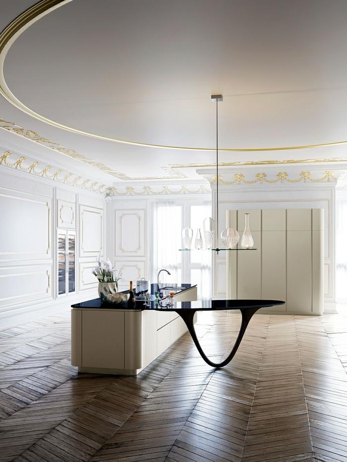 designerküchen moderne küchen kücheninsel arbeitsfläche minimalistisch