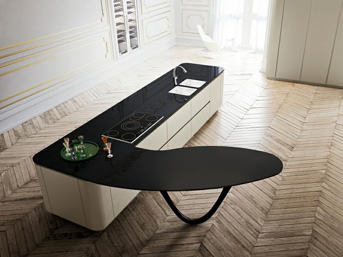 designerküchen moderne küchen kücheninsel kochfeld spüle minimalistisch