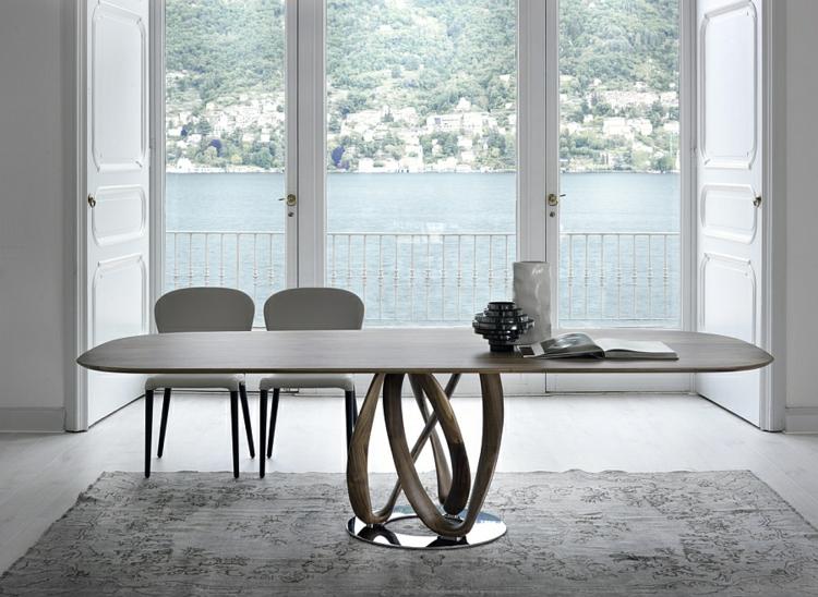 designer esstische essstühle weiß holz elegante minimalistische form