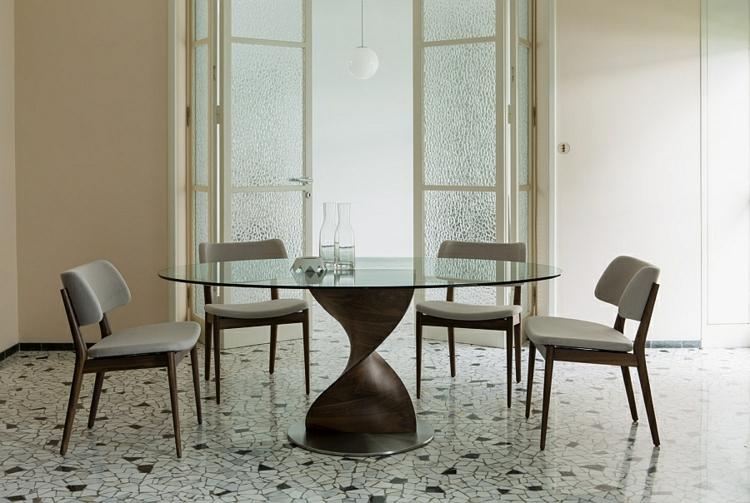designer esstische holz glas esstisch rund elegante essstühle weiß holz