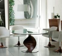 Esstisch glas rund  Designer Esstische verwandeln Ihr Esszimmer in ein reizendes Ambiente