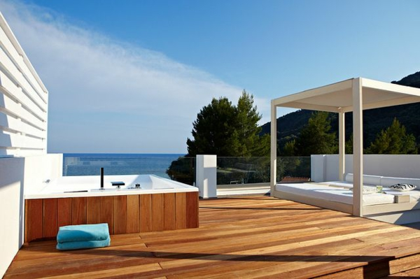 Terrassengestaltung beispiele 40 inspirierende ideen - Whirlpool dachterrasse ...