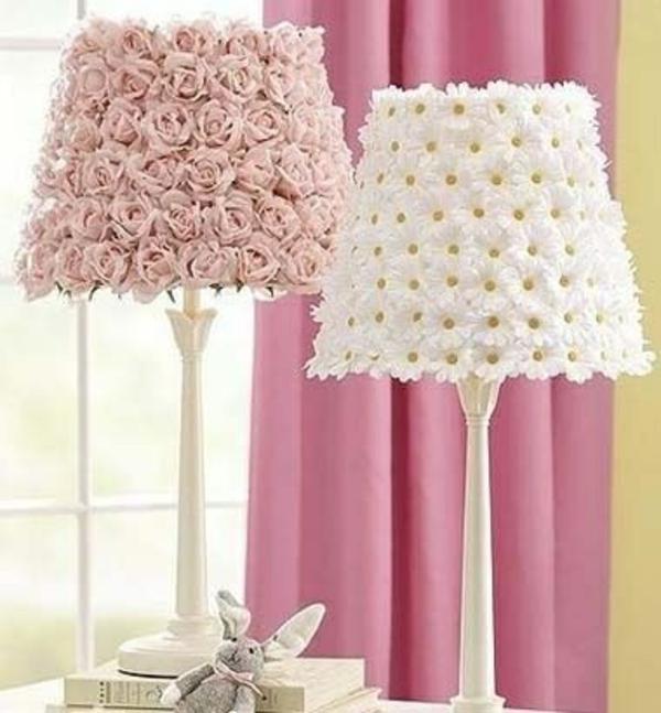 dekoideen frühlingsdeko basteln mit kindern lampenschirm