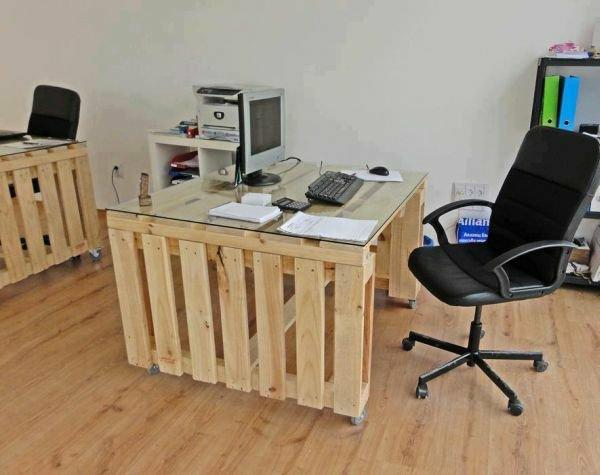 diy möbel europaletten home office gestalten schreibtisch paletten