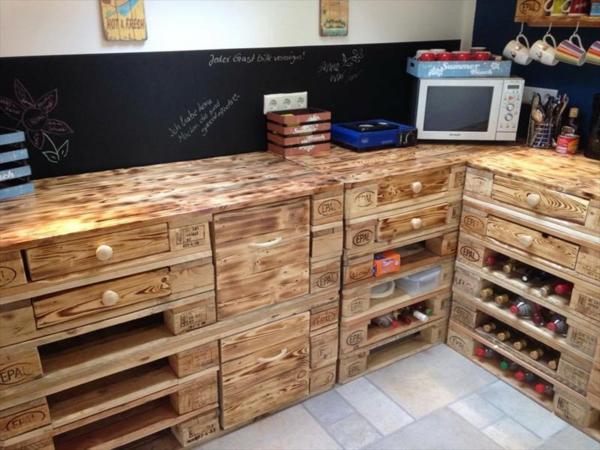 diy möbel europaletten kücheneinrichtung unterschränke selber bauen