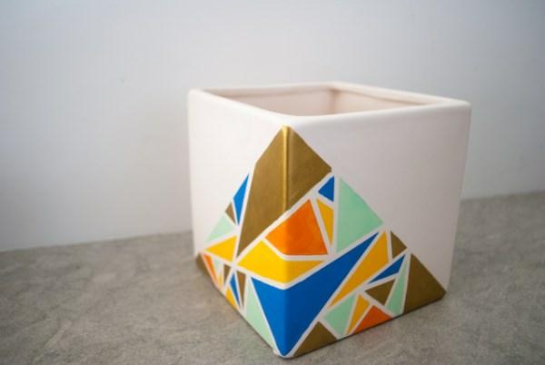 diy-projekte-übertöpfe-geometrische-muster
