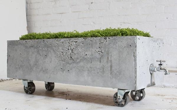 diy projekte pflanzenständer beton mit rollen