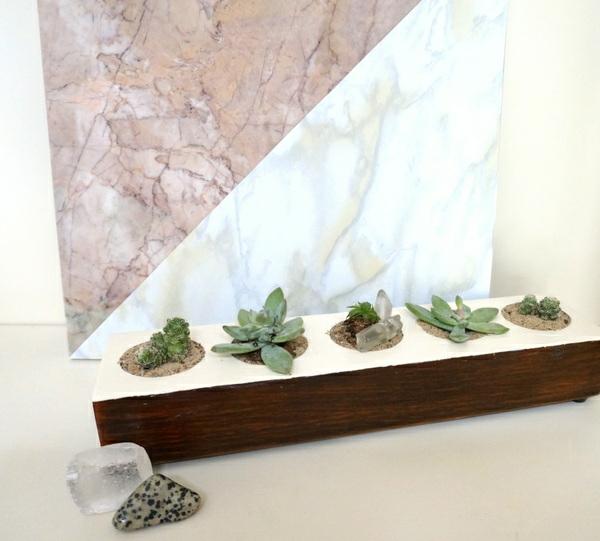 diy projekte pflanzenständer holz dekoration